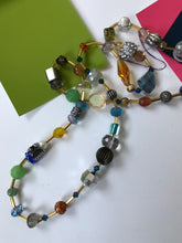Load image into Gallery viewer, Beaded Necklace: Glass, Crystal,Gemstone, Metals & Spacer Beads.