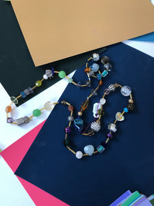 Beaded Necklace: Glass, Crystal,Gemstone, Metals & Spacer Beads.