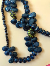 Load image into Gallery viewer, Blue beaded crystal necklace