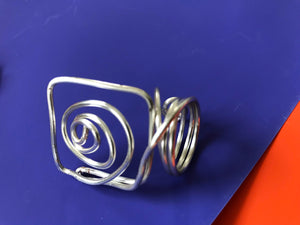 Silver-toned Wire Ring