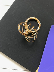 Gold-toned Flat Wire Ring