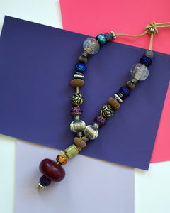 Three Quarter Length Beaded Necklace