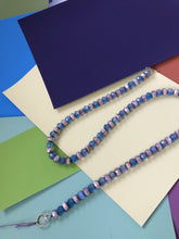 Load image into Gallery viewer, Blue glass beaded necklace