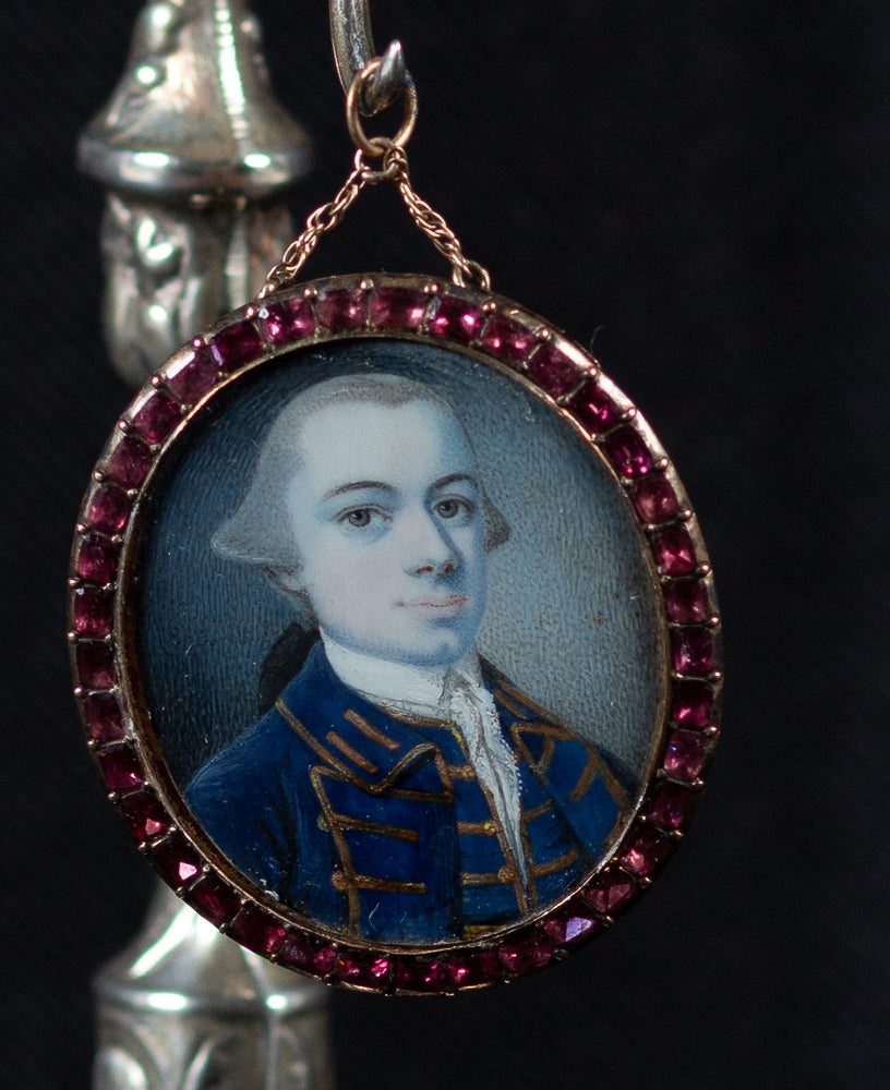 A PORTRAIT MINIATURE OF A MAN BY GUSTAVUS HAMILTON
