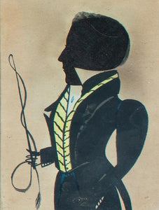 "A WATERCOLOR DRAWING OF A GENTLEMAN BY THE ""PUFFY SLEEVE ARTIST"""