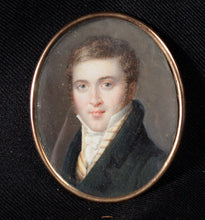 Load image into Gallery viewer, PORTRAIT MINIATURE OF A YOUNG MAN