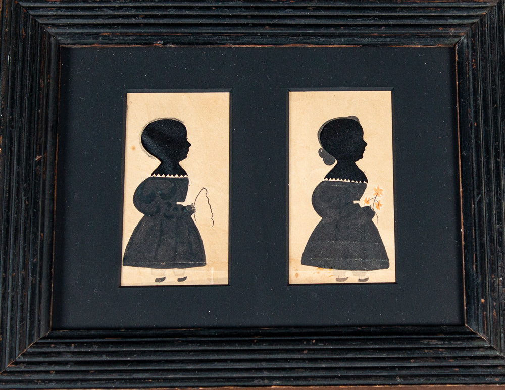 "SILHOUETTES OF TWO CHILDREN BY THE ""PUFFY SLEEVE ARTIST"""
