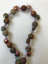 Load image into Gallery viewer, Dakota Stone and bi-cone bead necklace