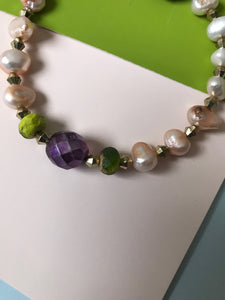 Beaded  and fresh water pearl bracelet