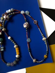 Beaded Necklace with Segmented Design