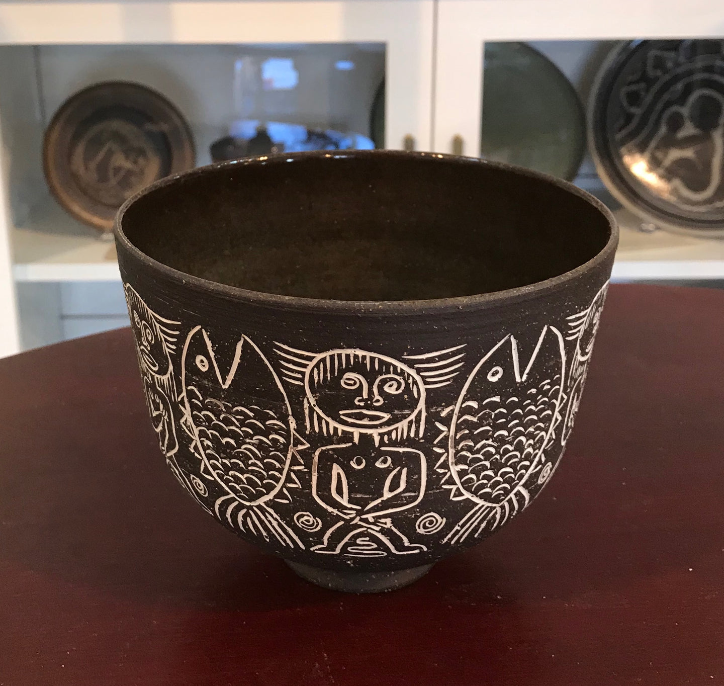 Brown Bowl by Edwin and Mary Scheier