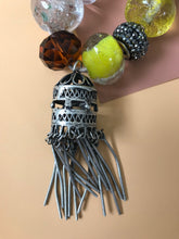 Load image into Gallery viewer, Beaded Bracelet with Antique Tibetan Silver Pendant