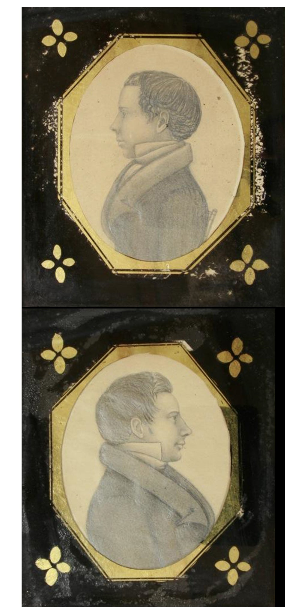 A pair of portraits, probably father and son