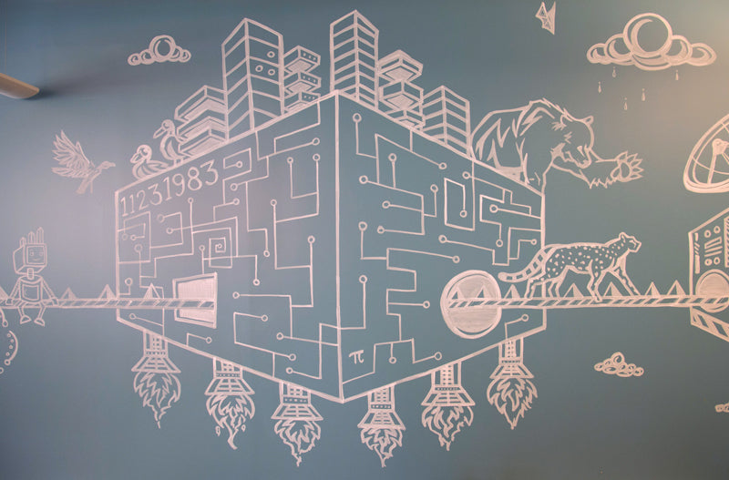 RJ Metrics Mural by Sean Martorana and Zach Kozac
