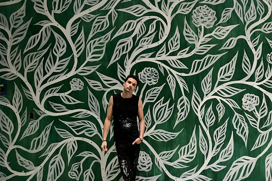 Sean Martorana Flourish Mural Painting Portrait