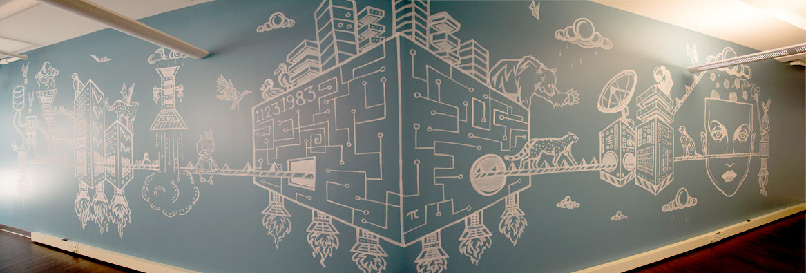 RJMetrics Mural by Sean Martorana and Zach Kozac