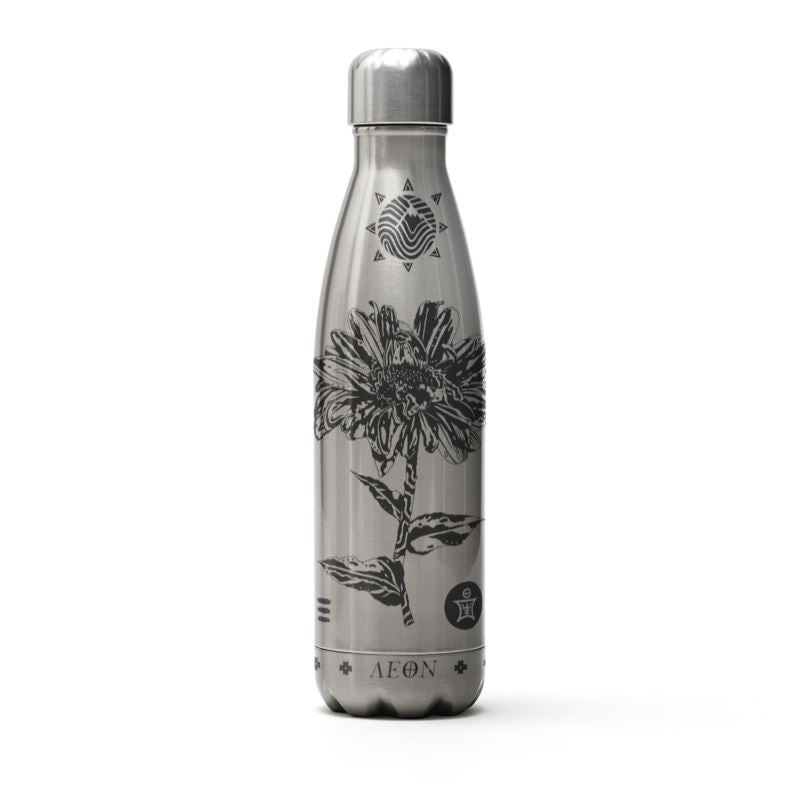 AEON - Rose + Aster Water Bottle Silver