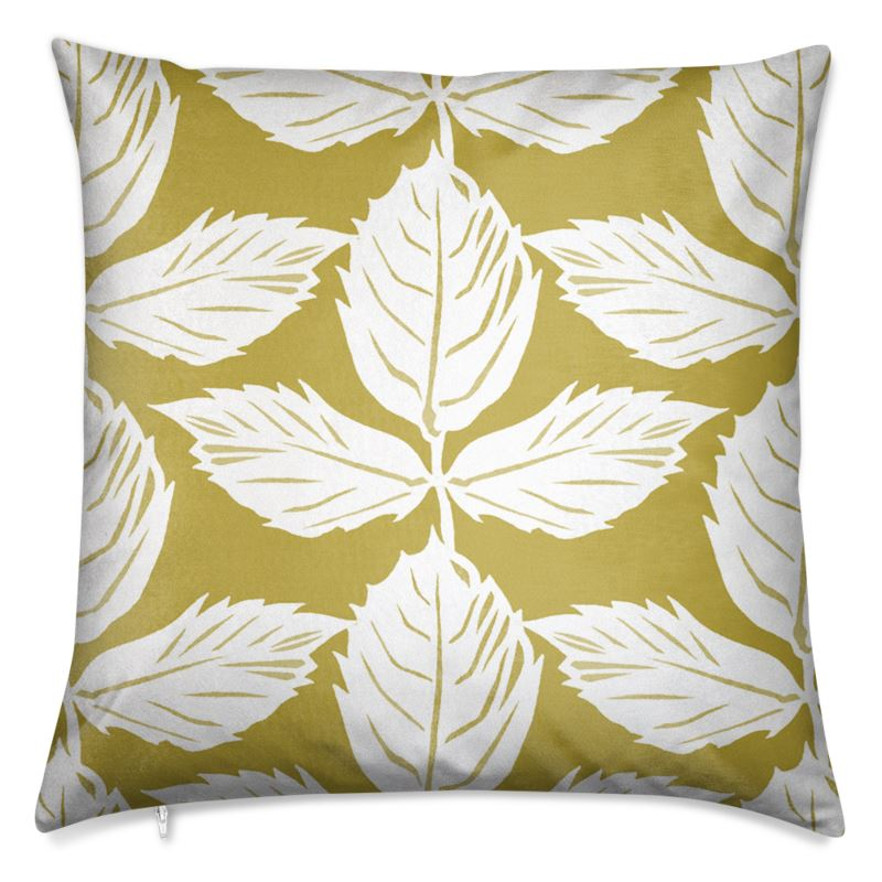 Rose Leaf Velvet Cushion