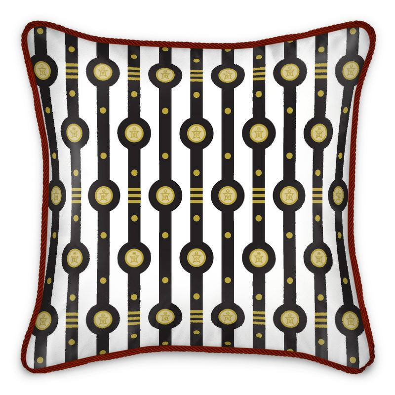 Shaman Straps Pattern Silk Cushion