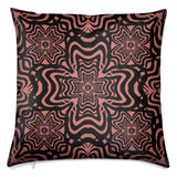 Rooster Feather Red Velvet Cushion