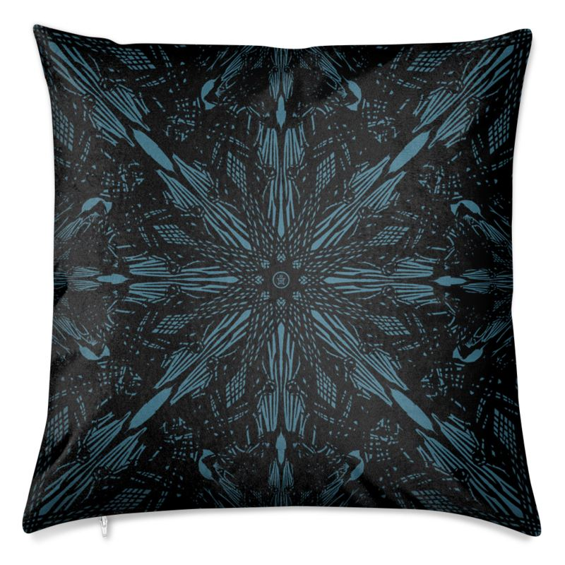 Raven Feather Velvet Cushion