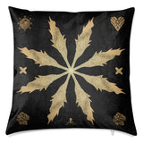 Marigold Leaf Star Velvet Cushion