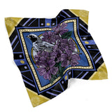 February • (Februarius) print silk scarf