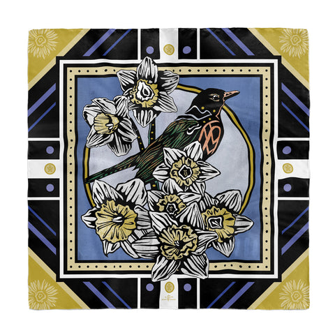 May • (Maius) print silk scarf