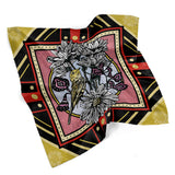 April • (Aprilis) print silk scarf
