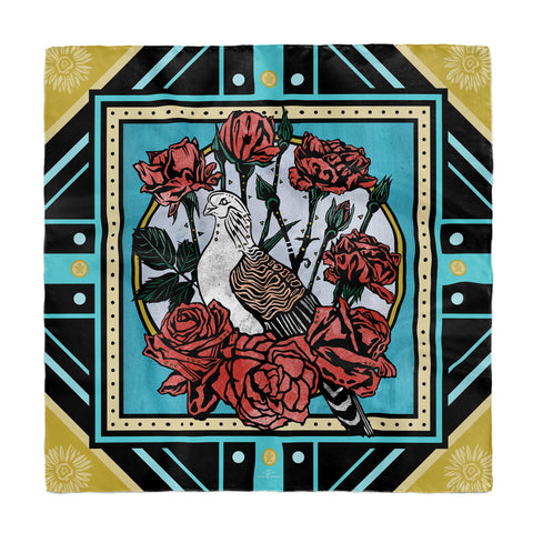 June • (Junius) print silk scarf