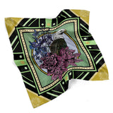 July • (Julius) print silk scarf
