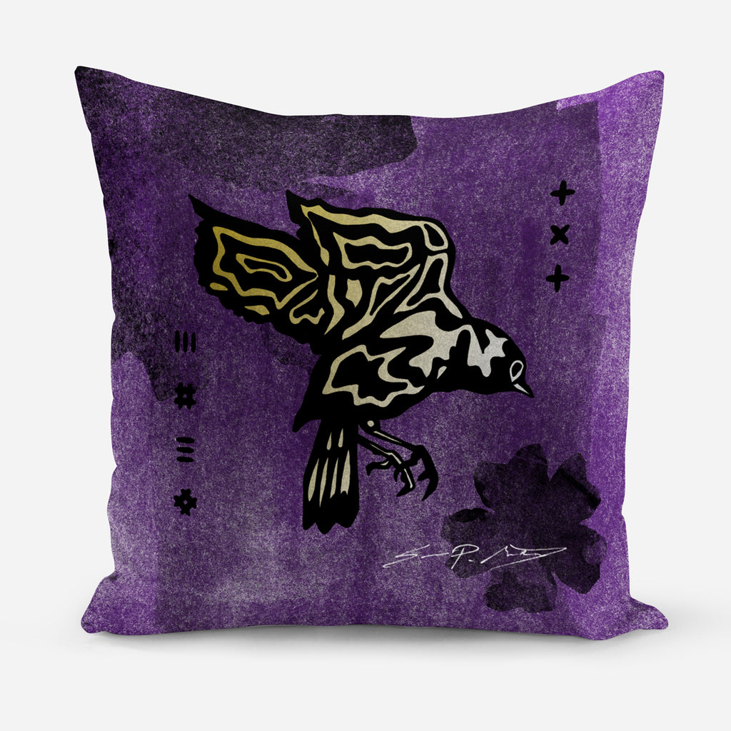 February • (Februarius) Magnolia Purple Velvet Cushion