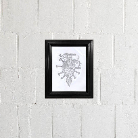 Tortured Heart Drawing - Framed