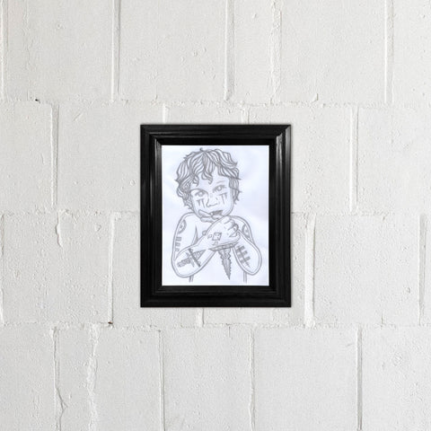 Warrior Cherub Drawing - Framed