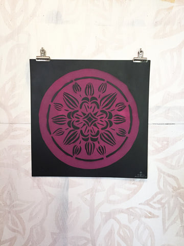 Crownvetch Stencil Print 2
