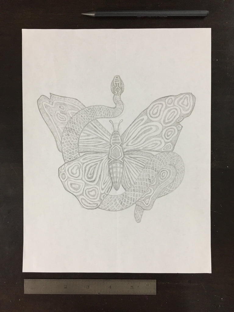 Original drawing #014 - Butterfly