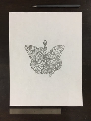Original drawing #015 - Butterfly