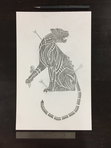 Original drawing #016 - Panther