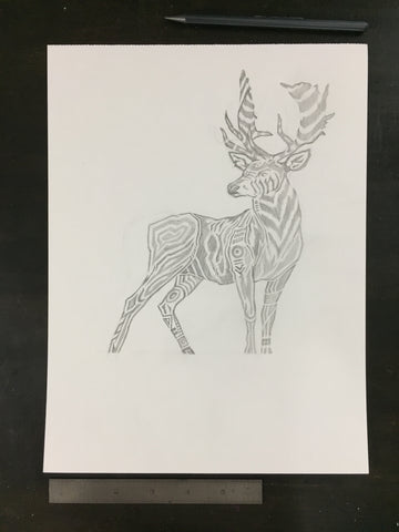 Original drawing #024 - Deer