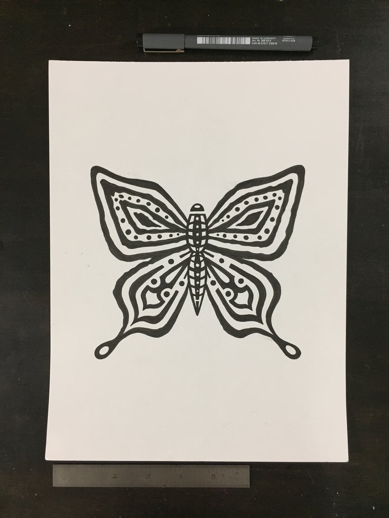 Original drawing #027 - Butterfly
