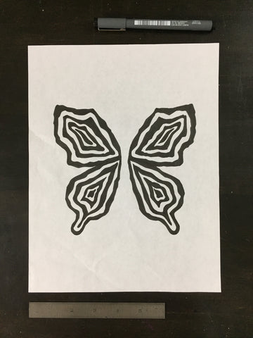 Original drawing #028 - Butterfly