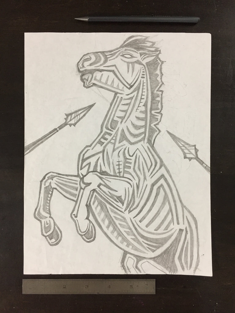 Original drawing #030 - Stallions Last Strike