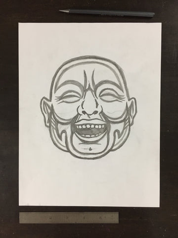 Original drawing #033 - Laughing Buddha