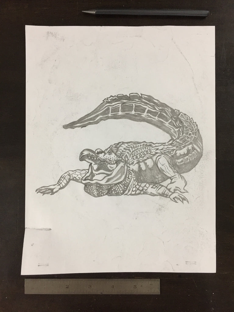Original drawing #037 - Alligator