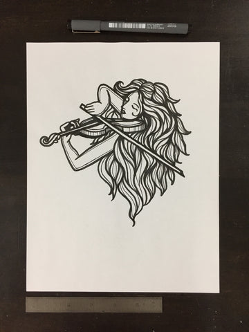 Original drawing #038 - Violinist