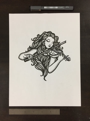 Original drawing #039 - Violinist 2