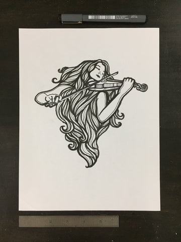 Original drawing #040 - Violinist 3