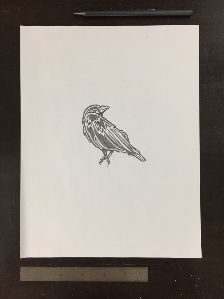 Original drawing #047 - Crow