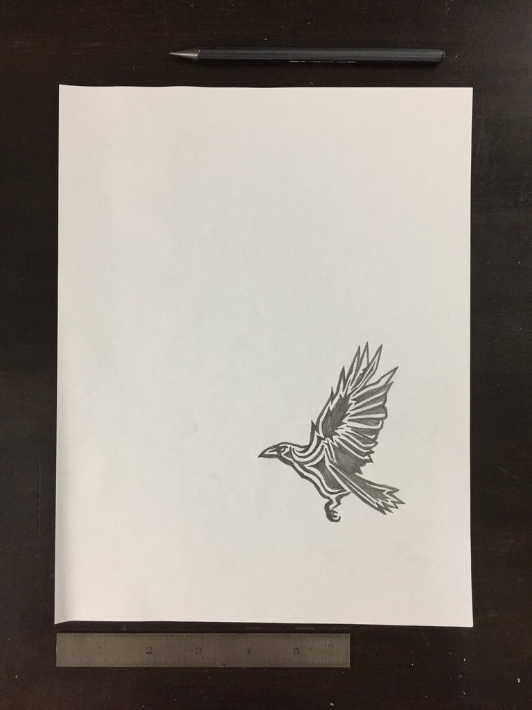 Original drawing #050 - Flying Crow