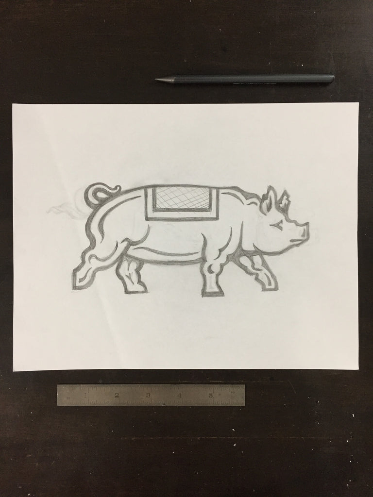 Original drawing #052 - Piggy